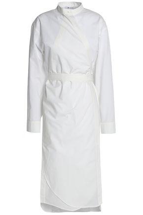 T by ALEXANDER WANG Cotton-poplin wrap dress