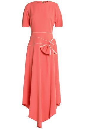 ROKSANDA Asymmetric bow-detailed crepe midi dress