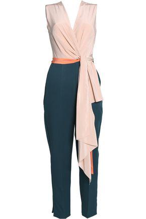 ROKSANDA Wrap-effect crepe jumpsuit