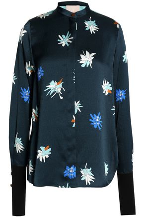 ROKSANDA Floral-printed silk-satin top