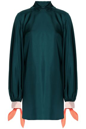 ROKSANDA Bow-detailed silk-satin blouse