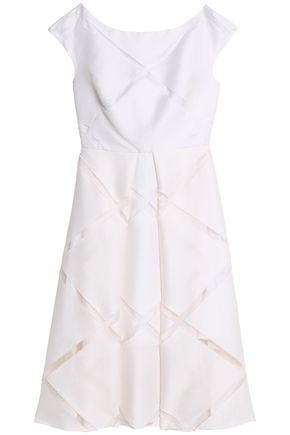 MILLY Fil coupé cotton and silk-blend dress