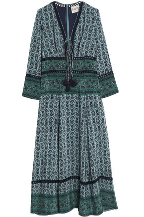 SEA Toko printed silk crepe de chine maxi dress