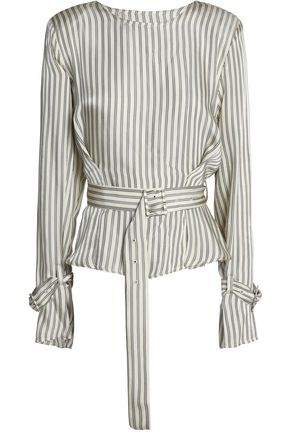 SEA Belted striped twill top