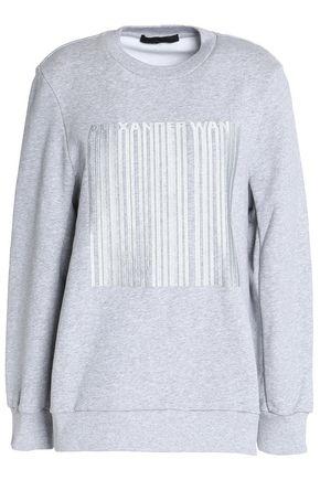 ALEXANDER WANG Embroidered cotton-fleece sweatshirt