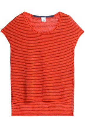 IRIS & INK Striped linen-blend top