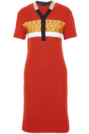 PROENZA SCHOULER Snakeskin-trimmed open-knit dress