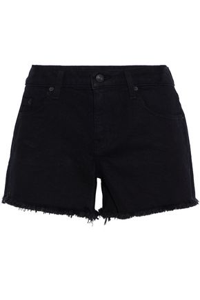 DEREK LAM 10 CROSBY Quinn frayed denim shorts