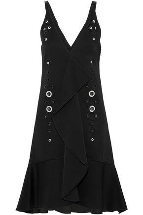 PROENZA SCHOULER Eyelet-embellished satin-crepe dress