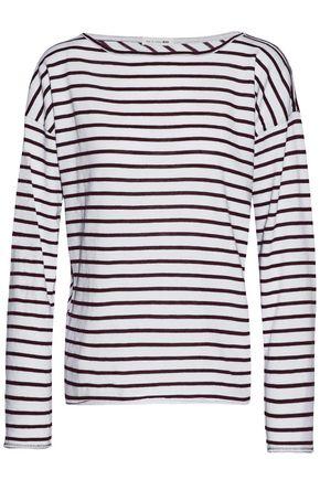 RAG & BONE/JEAN Striped cotton-blend top