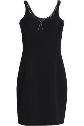 ALEXANDER WANG Bead-trimmed crepe mini dress