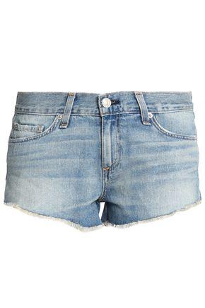 RAG & BONE/JEAN Frayed faded denim shorts