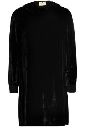 ALICE + OLIVIA Baron velvet hooded mini dress