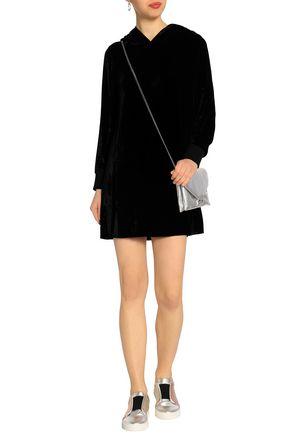 ALICE + OLIVIA Baron velvet hooded mini dress