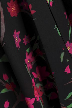 ALICE + OLIVIA Coco wrap-effect floral-print crepe de chine dress