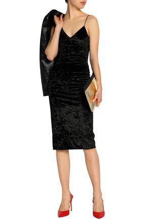 ALICE + OLIVIA Crushed-velvet dress