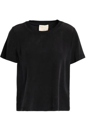 ALICE + OLIVIA Lana washed-crepe T-shirt
