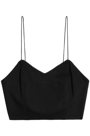 ALICE+OLIVIA Archer canvas bra top