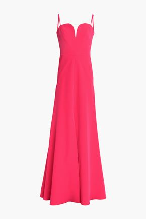 MILLY Stretch-crepe gown