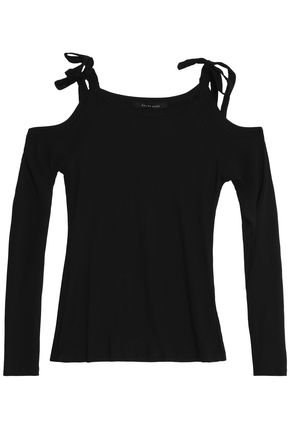 W118 by WALTER BAKER Off-the-shoulder ribbed-knit top