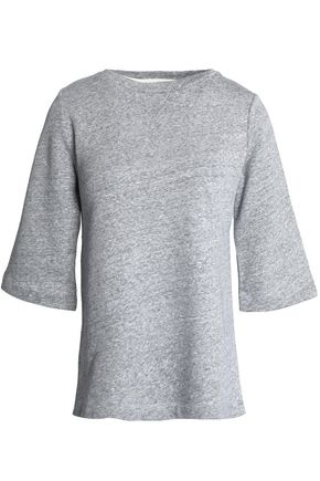 A.P.C. Marled cotton and linen-blend terry top