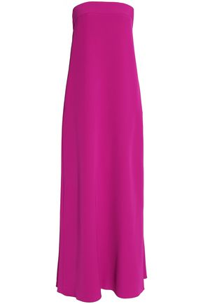 MILLY Strapless cady gown
