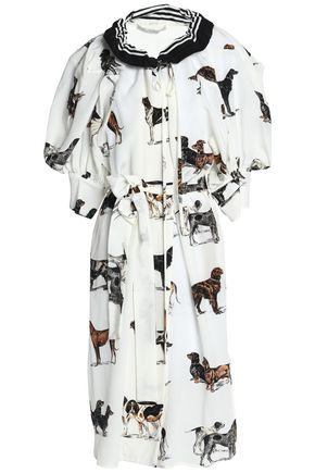 STELLA McCARTNEY Gathered printed crepe dress
