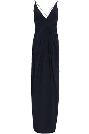 ZIMMERMANN Gathered washed-silk gown
