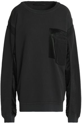 HAIDER ACKERMANN Jersey twill-paneled cotton sweatshirt