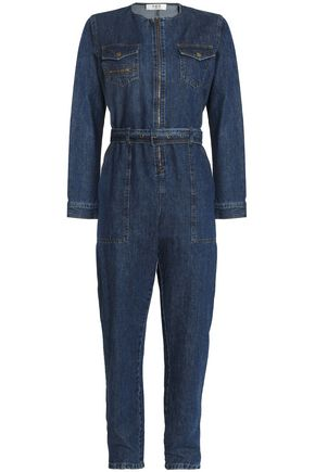 SEA Belted denim jumpsuit