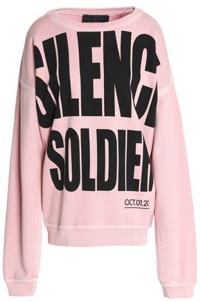 HAIDER ACKERMANN Oversized printed cotton-terry sweatshirt