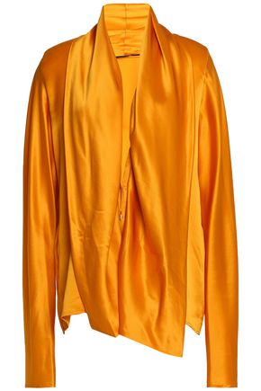 HAIDER ACKERMANN Draped silk-satin blouse