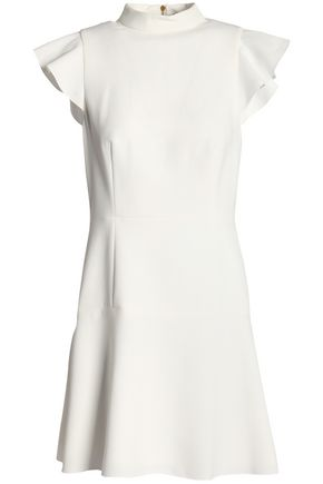 RACHEL ZOE Ruffle-trimmed crepe mini dress