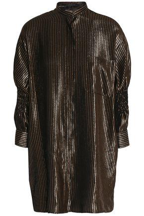 HAIDER ACKERMANN Smocked striped lamé blouse