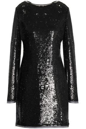 RACHEL ZOE Tie-back sequined chiffon mini dress