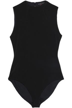 ALICE + OLIVIA Becker stretch-crepe bodysuit