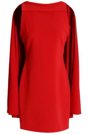 ALICE + OLIVIA Cape-back crepe mini dress