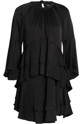 MARISSA WEBB Ruffled cutout satin-crepe mini dress