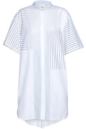 3.1 PHILLIP LIM Paneled striped cotton mini dress