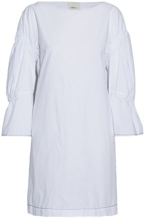 3.1 PHILLIP LIM Gathered cotton-poplin mini dress