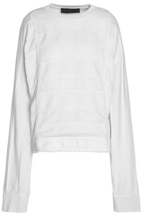 HAIDER ACKERMANN Striped-paneled cotton sweatshirt