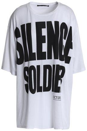 HAIDER ACKERMANN Oversized printed cotton-jersey T-shirt