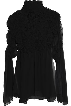 CHLOÉ Ruffled silk-georgette blouse