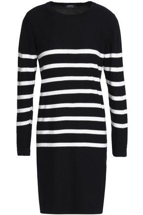 A.P.C. Serberg striped silk mini dress