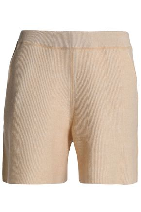 SEE BY CHLOÉ Ribbed wool and cotton-blend shorts