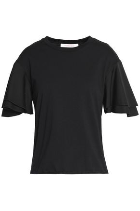 SEE BY CHLOÉ Layered cotton-jersey T-shirt