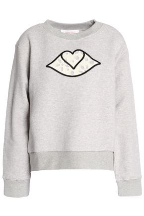 SEE BY CHLOÉ Appliquéd cotton-terry sweatshirt