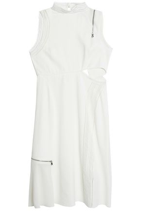 3.1 PHILLIP LIM Cutout zip-detailed crepe midi dress