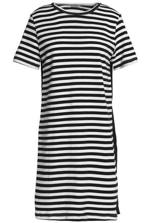 CLU Paneled cotton-jersey mini dress