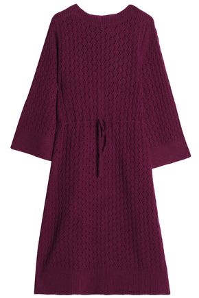 SEE BY CHLOÉ Gathered pointelle-knit midi dress